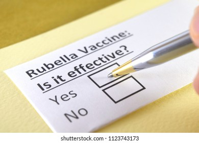Rubella vaccine: is it effective? yes or no