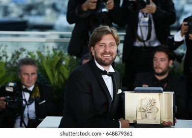 Ruben Oustland  winner of the Palme d'Or for the movie 'The Square' attends the Palme D'Or winner photocall at the 70th Festival de Cannes. May 28, 2017  Cannes, France