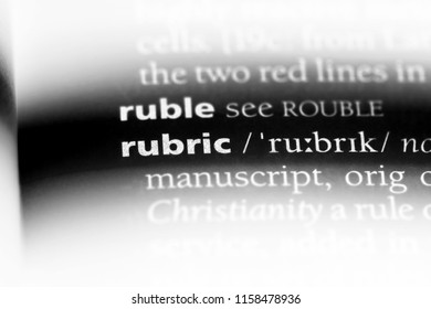 rubic word in a dictionary. rubic concept.
