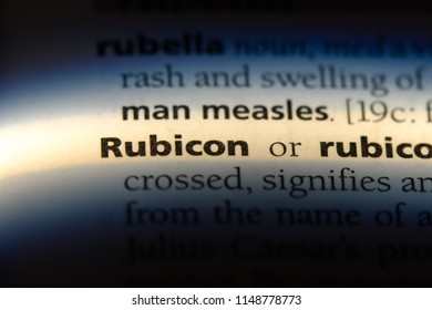 rubicon word in a dictionary. rubicon concept.