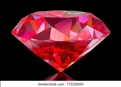 Ruby, 3D rendering isolated on white background