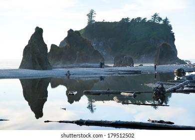 Ruby Beach in Olympic National Park, Washington, USA