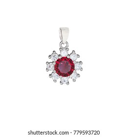 Ruby and diamond jewelry