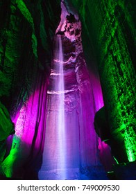 Ruby Falls, one of the major tourist attractions near Chattanooga, Tennessee.