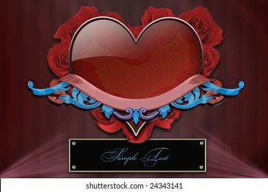 Ruby heart, background, wallpaper