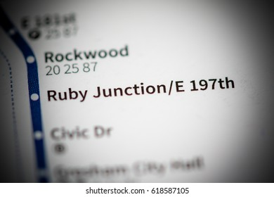 Ruby Junction E 197th Station. Portland Metro map.