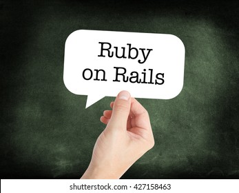 Ruby on Rails written on a speechbubble