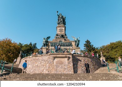 Rudesheim Germany October 2018, Niederwalddenkmal is a monument located in the Niederwald near Rudesheim am Rhein in Hesse