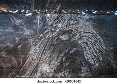 Rudolf mine in Salina Turda salt mine in Turda city in Romania