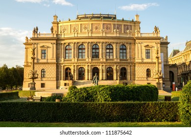 The Rudolfinum Prague, a beautiful neo-renaissance building which is home to the Czech Philharmonic Orchestra.