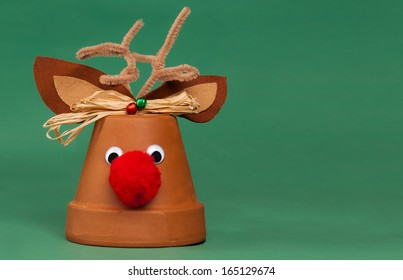 Rudolph The Red-Nosed Reindeer Flower Pot Christmas Decoration