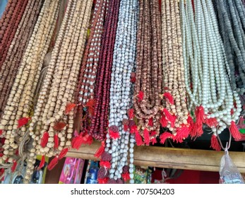 Rudraksh and beads jewelry street market