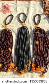 Rudraksha beads for jewellery made from seeds of sacred tree