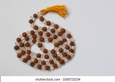 Rudraksha beads or Rosary, with Sphatik beads