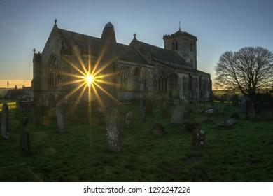 Rudston Church and Monolith, East Yorkshire UK