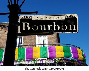Rue Bourbon New Orleans during Mardi Gras