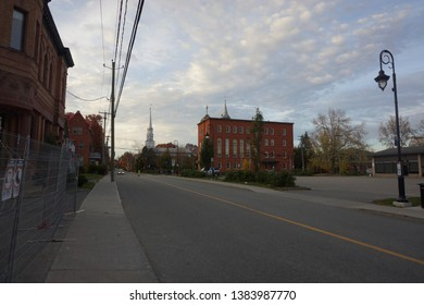 rue dufferin of sherbrooke town on the townships trail of eastern townships in quebec, canada