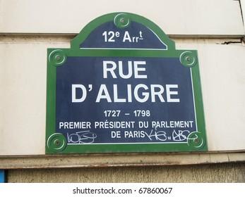 Rue d�´Aligre, Paris