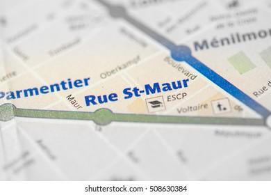 Rue St-Maur Station. 3rd Line. Paris. France