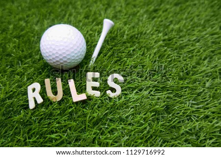 Rues of golf with