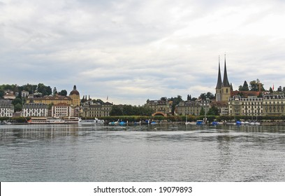 The Ruess River in downtown Luzern Switzerland