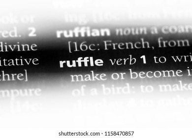 ruffle word in a dictionary. ruffle concept.