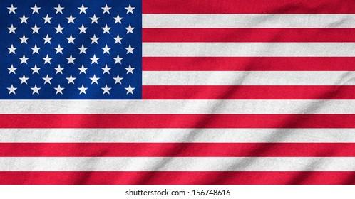 Ruffled US Flag