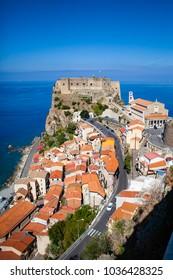 The Ruffo Castle in Scilla, Calabria, Italy.