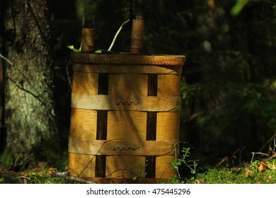 Rug sack made of birch bark