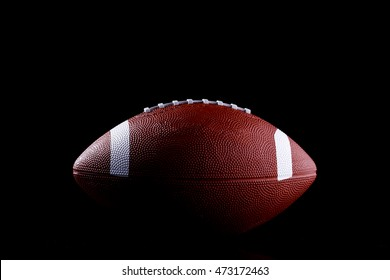 Rugby Ball  isolated on black