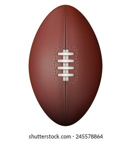 Rugby ball isolated on a white background. Realistic Illustration.