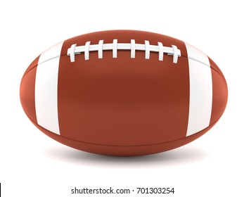 Rugby ball isolated on white background. 3d illustration