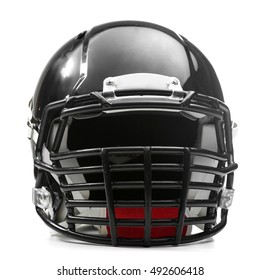 Rugby helmet on white background