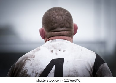 a rugby man back portrait