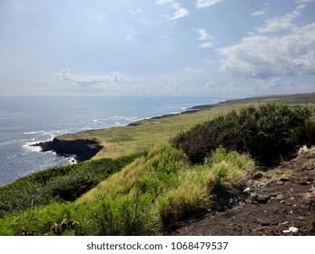 Rugged and beautiful Hawaii Pacific coastline