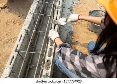 Rugged Female Construction Workers on the jobsite