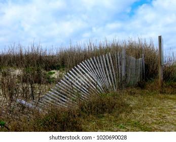 Rugged Fence on the Beach