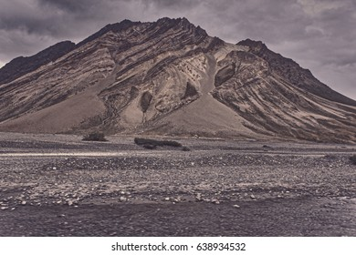 Rugged hills of Zanskar Valley in Western Indian Himalayas