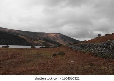 Rugged Irish Mountain Countryside Landscape, Wicklow.