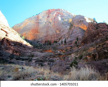 Rugged mountain landscape scene in Utah, USA