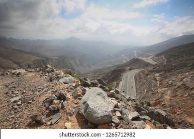 Rugged mountains of Ras Al Khaimah