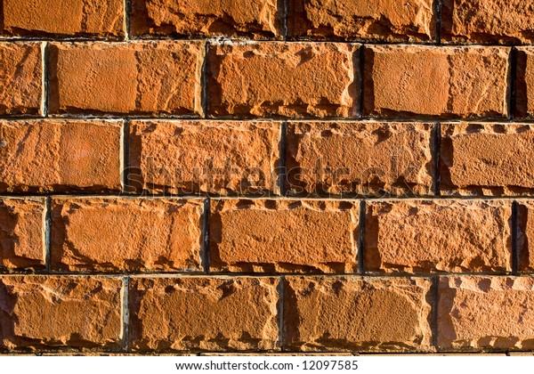 rugged orange brick texture