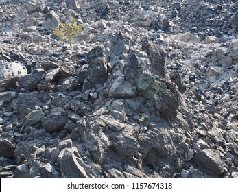 The rugged terrain of Big Obsidian Flow