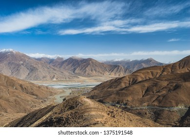 The ruggedly beautiful landscape of Tibet, China.