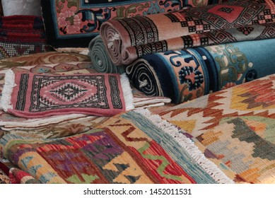 Rugs and Carpets in Kilim style for sale at market