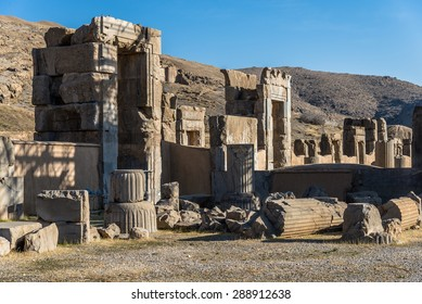 Ruin of ancient city Persepolis, Iran. Persepolis is a capital of the Achaemenid Empire. UNESCO declared Persepolis a World Heritage Site.