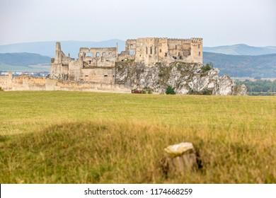 Ruin Beckov castle near the Trencin city in Slovakia, Europe