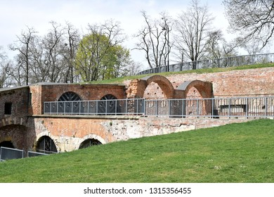 Ruin of Bricklaying Bastion (Bastion Ceglarski) - old fortification of Wroclaw city.