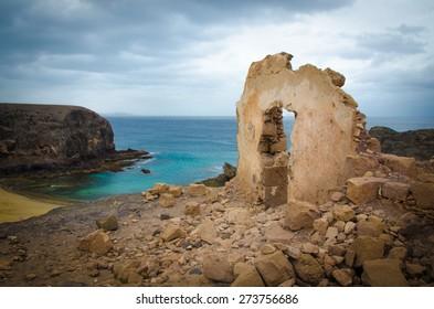 Ruin by the sea