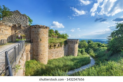 Ruin of castle Altenstein in Hassberge county, Bavaria, Germany